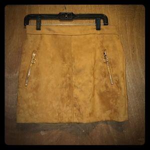 FOREVER 21 SUEDE Camel Skirt